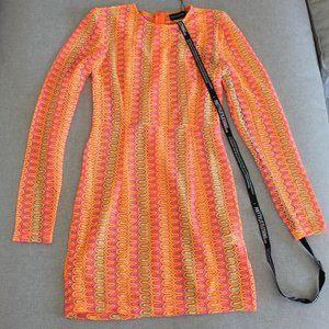 Neon Crochet Shift Dress